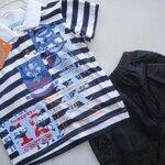 Qkidscent ชุด2ชิ้้น เสื้อยืดโปโลcotton100%พิมพ์+กางเกง หน้าร้อน ขนาด 12M 18M 24M ใส่ได้ถึง 3-4ปี