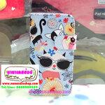 ►เคสหนัง IPhone 5C ►► Kiss Case ลายแมว 2