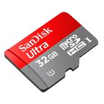 Sandisk micro SD card SDHC 32GB Class 10 Up to 30 MB/s