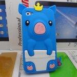 เคสไอโฟน 4/4s (Case Iphone 4/4s) เคสซิลิโคน หมูน้อย สีน้ำเงิน