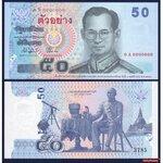 ธนบัตรตัวอย่าง P-1125SP ชนิด 50 บาท ยังไม่ใช้