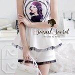 Set British Princess Ivory Blouse&Shorts by Seoul Secret