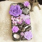 เคสไอโฟน 5/5s (Case Iphone 5/5s) ( เคสไอโฟน Anna Sui ) สีม่วง
