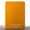 Yellow HOCO Armor Series for iPad Air 5 Slim Tri-fold Smart Leather Cover Stand