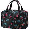กระเป๋าเครื่องสำอาง ลายดอกไม้ แปลงร่างเป็น Bag in bag เพื่อจัดระเบียบได้ มีซองใส่ทิชชูแถมด้วยจ้า