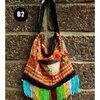 กระเป๋าผ้าแม้ว HB 353 B2 / Embroidery Hmong Fringe Tassel Bag Boho Style HB 353 B2
