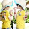 เสื้อยืดคอกลม สีเหลือง แขนสั้น มีรูปอามร์ด้านหลังน่ารัก สไตล์เกาหลี