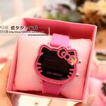 Hello Kitty นาฬิกาข้อมือ ไฟ LED