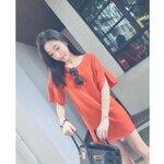 Basic Orange Dress