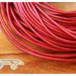 เชือกสำหรับทำสาย key cover ขนาด 3 มม. สีแดง (ราคาเมตรละ)