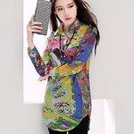 เสื้อสไตล์เกาหลี ปกเชิ้ตเจาะสาปโปโล เนื้อผ้าดีสวมใส่สะบาย