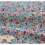 ผ้าคอตตอนญี่ปุ่นลายดอกไม้หลากสี (LECIEN ขนาด 1/4 หลา 45 x 55 ซม.)