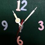 ชุดตัวเครื่องนาฬิกาญื่ปุนเดินเรียบ เข็มลายโมเดิน ขนาดกลาง เข็มสั้น-เข็มยาวสีเหลืองสลับเงิน เข็มวินาทีสีแดง อุปกรณ์ DIY