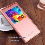 IC Chip Case For Samsung Galaxy s5 i9600 S View Flip Leather Cover Open Window With Wakeup Sleep