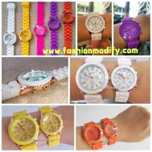 นาฬิกาข้อมือ (size เล็ก) หลากสีสัน เวอร์ชั่นเล็ก สุดน่ารัก  ( ยี่ห้อ XINSLON)