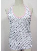 Jp1296 New!! สินค้าใหม่ เสื้อกล้ามคล้องคอ สีพื้นขาว Major League Baseball ไซค์ M
