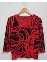Jp1558 เสื้อคาร์ดิแกนสวมหัว Henny ไซค์ 4 ลายกราฟฟิค โทนสีแดงดำ ผ้าหนา รอบอก 32- 38 นิ้ว