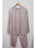 Jp1992 New!! สินค้ามือหนึ่ง ไม่มีป้าย ชุดนอนเสื้อกางเกง ผ้าลื่น ลายดอกไม้ โทนสีชมพู ETOILE ไซค์ LL เสื้อ รอบอกเสื้อ 42 นิ้ว