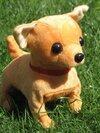 หมาดุ๊กดิ๊ก Chihuahua Walking Dog มีเสียงเห่า ขยับได้ เดินช้า และวิ่งได้ สีน้ำตาล