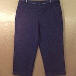 เอว38-42 แบรนด์ Gap กางเกงคนอ้วน กางเกงผ้า cotton ผ้าทอลายริวสีน้ำเงินดำ ขาสี่ส่วน ยืดได้นิดๆ