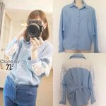 Cliona made, Long Sleeve Lace Winter&Summer Shirt