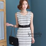 Must have item!!! แนะนำค่ะ งานสวยผ้าดี Matilda Black&white lace Dress style korea