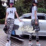 Brand letters tops, sports pants, T-shirt, casual pieces for summer by Aris Code