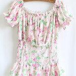 เสื้อซีฟองลูกไม้ สำหรับสาวหวาน งานคัตติ้งเกาหลี  [ขายส่ง 360.-]