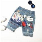 กางเกงยีนส์สามส่วน สกรีนก้น Looney Tunes 5 ตัว/แพค *ส่งฟรี*