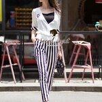 Seoul Secret Say's... Stripy CC Blossom Jump Suit