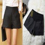 กางเกงพยุงหน้าท้อง ขาสั้นสีดำลายนูนกุหลาบ มีกระเป๋า2ข้าง เอวปรับสายได้ มีsize M, L, XLค่ะ