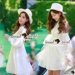 Seoul Secret Say's... Lady Lace Pleat Ivory Dress