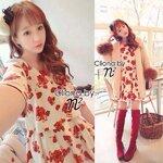 Cliona Made, Sunrise Red Chaba Mini Dress