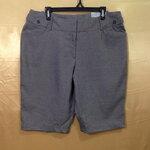 เอว36-38 แบรนด์ WORTHINGTON กางเกงคนอ้วน ผ้า cotton ยืดนิดๆ ใส่สบาย ขาสามส่วนมีหูที่เอว สีเทาอ่อน