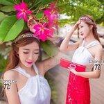 Red Hot Chilli V Cross Top + 3D Flower Skirt Set