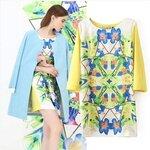 Dress print LILY [ขายส่ง550.-]