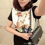 Korea Set Chic Top & Black Skirt by Seoul Secret