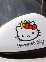 สติ๊กเกอร์ Princess Kitty สีดำ ( ขนาด 11.5*11.5 CM) (1ชิ้น/pack)