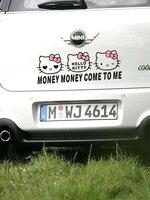 สติ๊กเกอร์คิตตี้ Money Money Come to Me โบว์ชมพู (ขนาด 29*10CM)