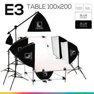 E3 โต๊ะถ่ายภาพสินค้าปรับองศา 100x200 ซม.