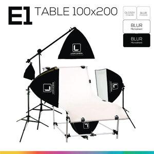 E1 โต๊ะถ่ายภาพสินค้าปรับองศา 100x200 ซม.