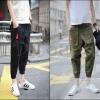 PRE-ORDER กางเกงขายาวแฟชั่นใหม่ กางเกงขายาวลำลองจั๊มขา ออกแบบแนวหนุ่มฮาเร็มสีสันเรียบง่าย