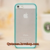 Case iPhone 4/4s iPhone 5 iPhone6/6plus ขอบสีเขียวทะเล ด้านหลังสีขุ่น