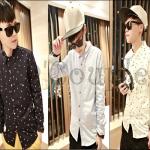 PRE-ORDER เสื้อเชิ้ตแฟชั่นใหม่เกาหลี 2014 เสื้อเชิ้ตออกแบบใหม่พิมพ์ลายดาวห้าแฉก